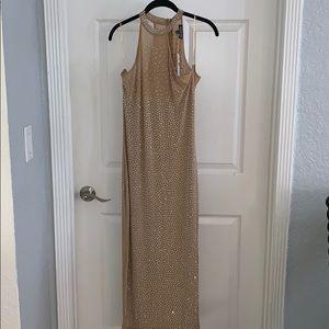 Nude Rhinestone dress